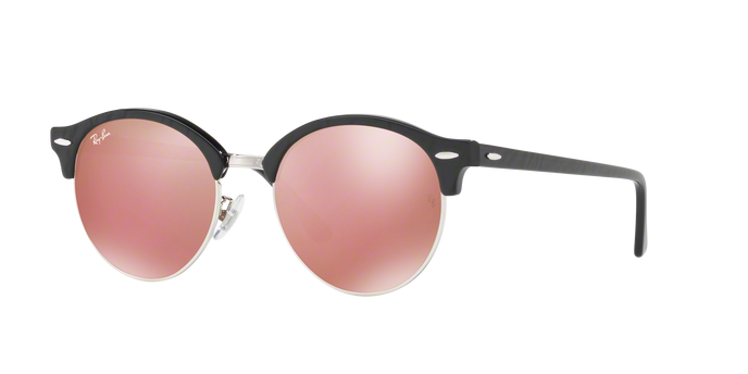 Ray Ban RB4246 1197Z2 TOP WRINKLED BLACK ON BLACK Brown Mirror Pink