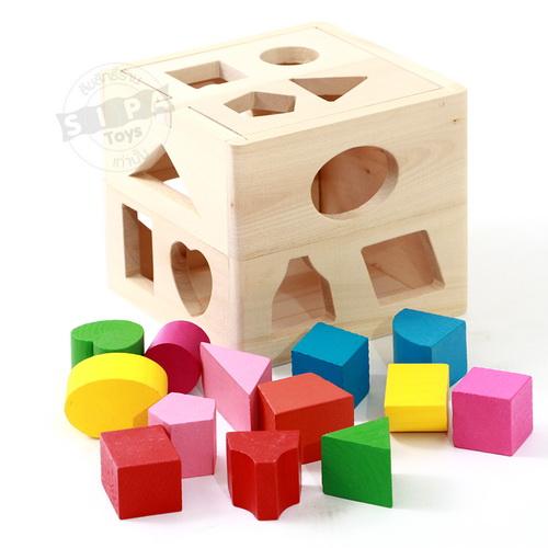 บล็อกหยอด(กล่อง)เรียนรู้รูปทรงและสี ...จัดส่งฟรี
