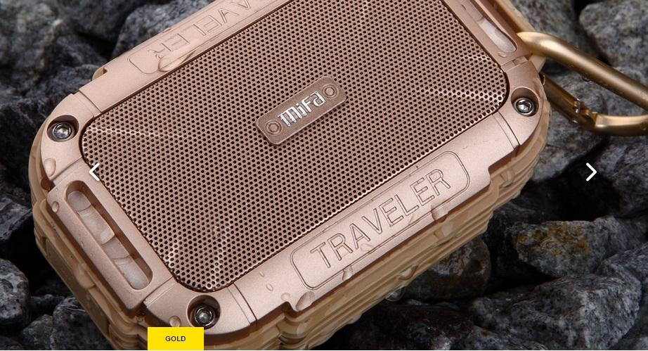 Mifa F7 (สีทอง) ใส่Micro sdcardได้