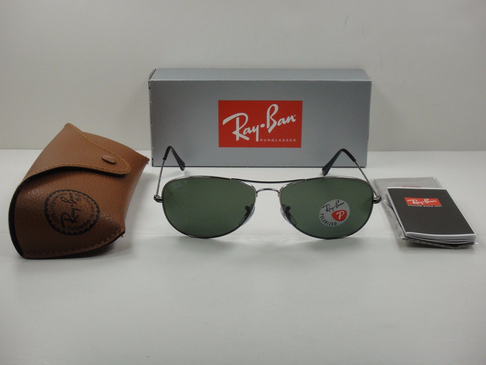 Ray-Ban Cockpit RB3362 004/58 Gunmetal Polarized 59mm