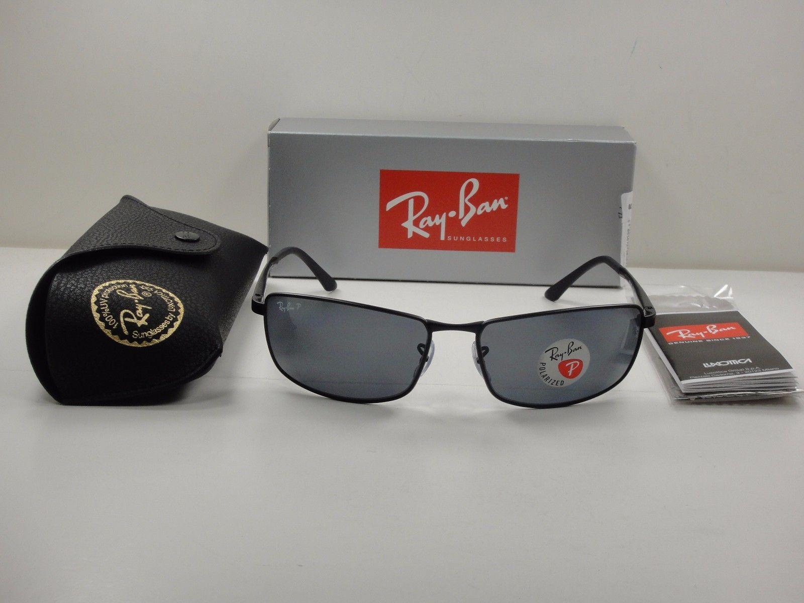 Ray Ban RB3498 006/81 Black frame Gray lens Polarized