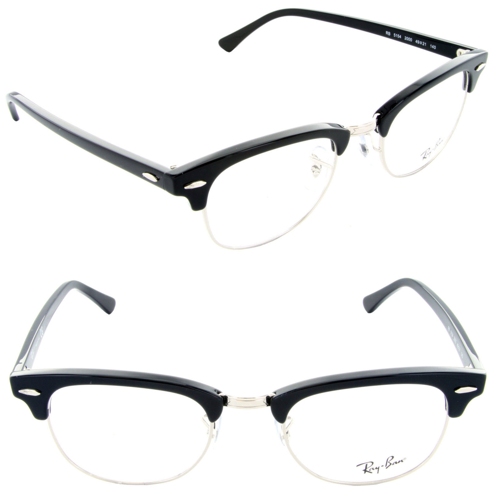 Ray Ban RB RX 5154 2000 Clubmaster Eyeglasses 49mm