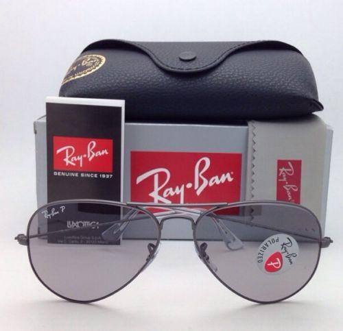 Ray Ban RB3025 029/P2 Aviator Crystal Grey polarized 58mm