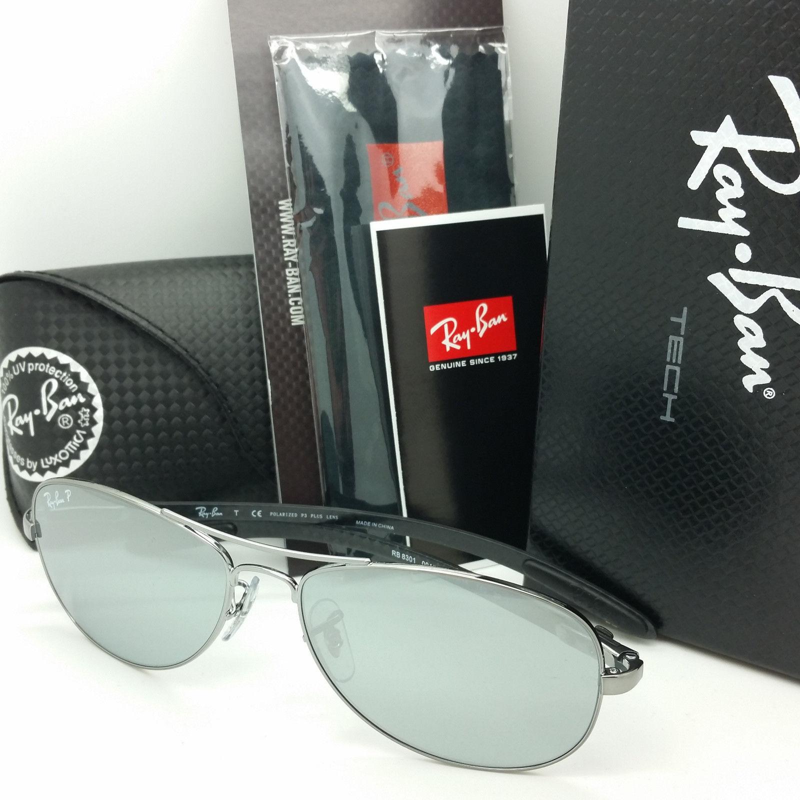 RAY BAN RB8301 004/K6 TECH Silver Mirror Polarized 59mm