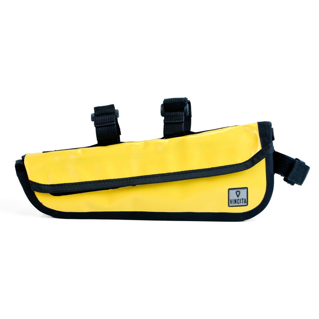 vincita กระเป๋าสามเหลี่ยมกันน้ำใต้เฟรมสีเหลือง B023WP