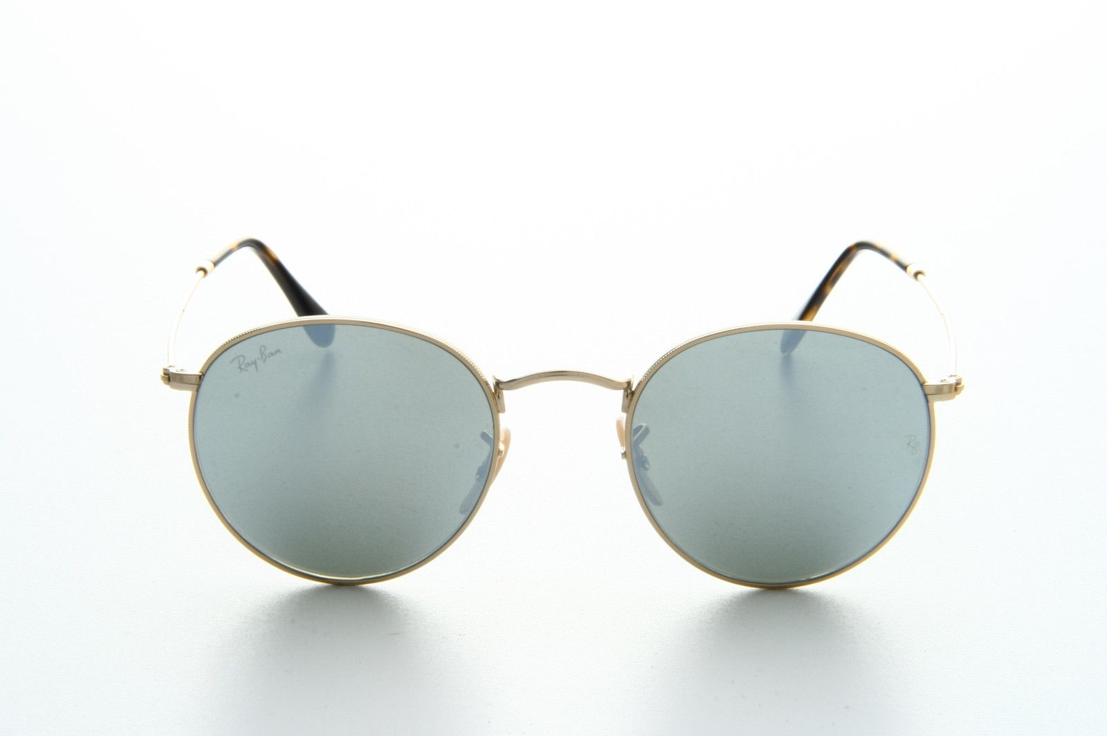Ray Ban RB3447N 001/30 Gold silver Flat round metal