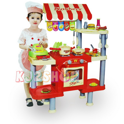 ชุดครัว Shop Fast Food...ร้านค้าขายอาหารจานด่วน ...จัดส่งฟรี