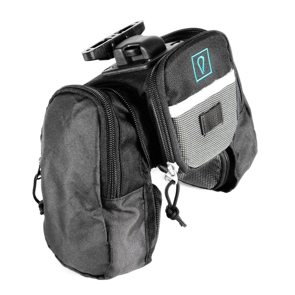 vincita กระเป๋าใต้อานเอเลี่ยนมีกระเป๋าสองข้างขยายรุ่นคลิปสีดำ B037Q