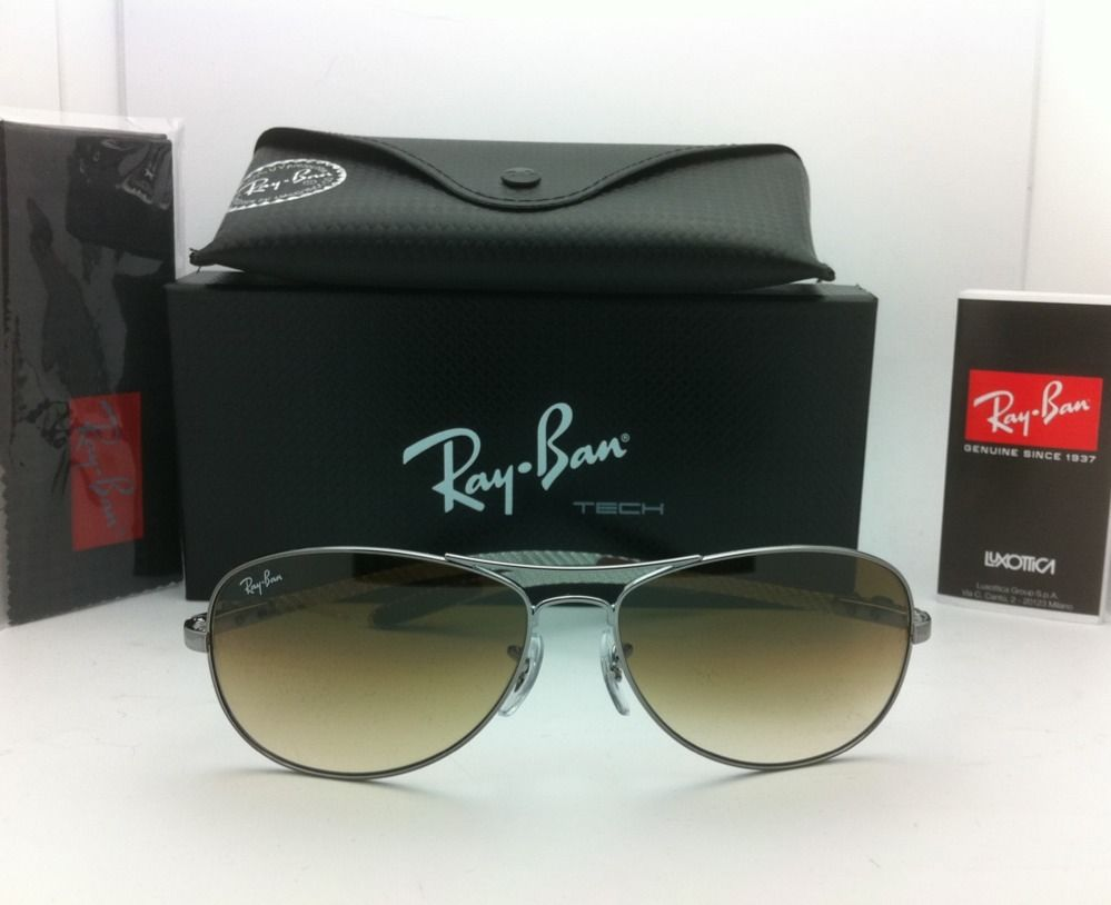 RAY BAN RB8301 004/51 Carbon Fiber Tech Silver mirror polarized 59/61MM