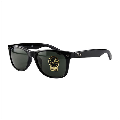 Ray Ban New Wayfarer RB2132F 901 Black G-15