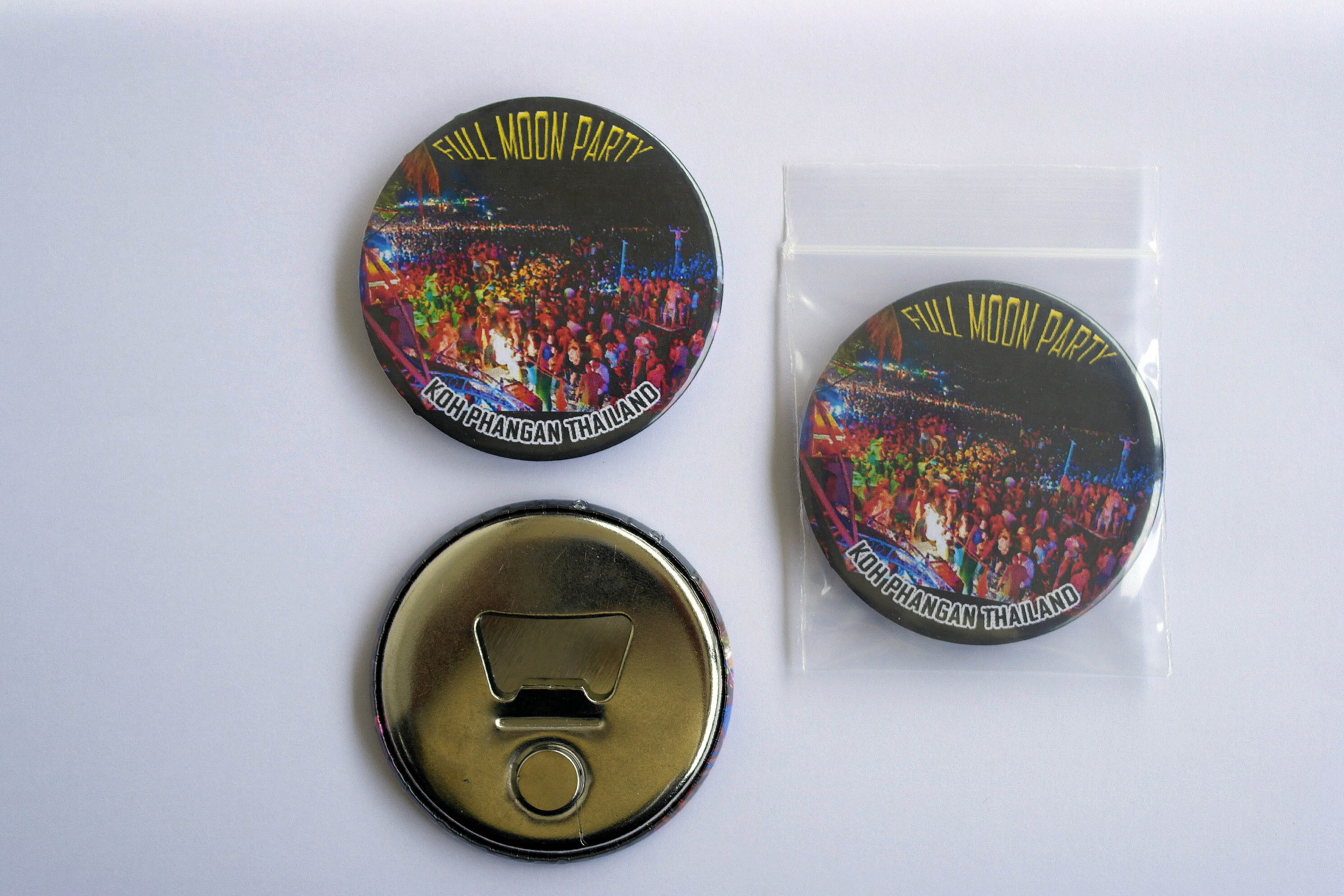 Koh Phangan Full Moon Party 58 mm Fridge Magnet