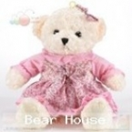 ตุ๊กตาหมีลอรัลตัวขาวครีม-เสื้อชมพู ขนาด 1.2 เมตร