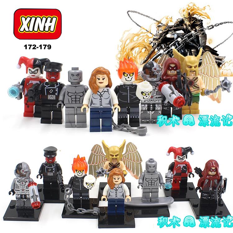 เลโก้จีน XINH 172-179 ชุด Super Heroes (สินค้ามือ 1 ไม่มีกล่อง)