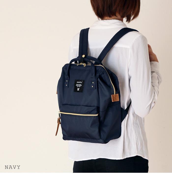 กระเป๋าเป้ Anello canvas navy (Mini)