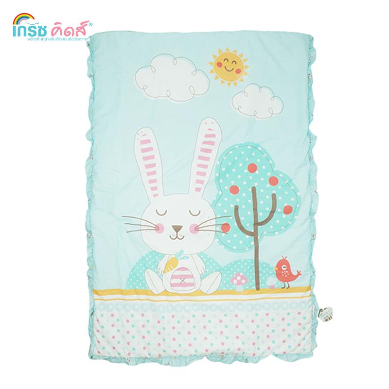 ผ้าห่ม Cute Rabbit สีฟ้า