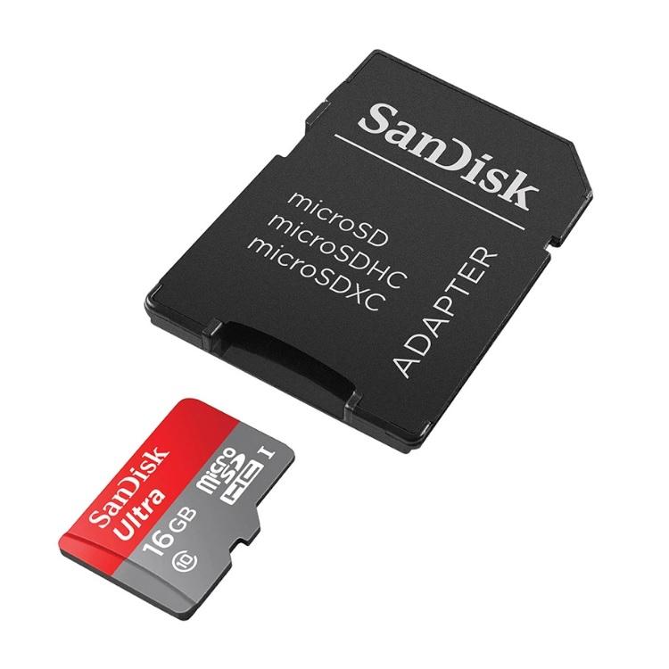 เมมโมรี่การ์ด Sandisk Micro SD 16GB speed 80MB Class 10