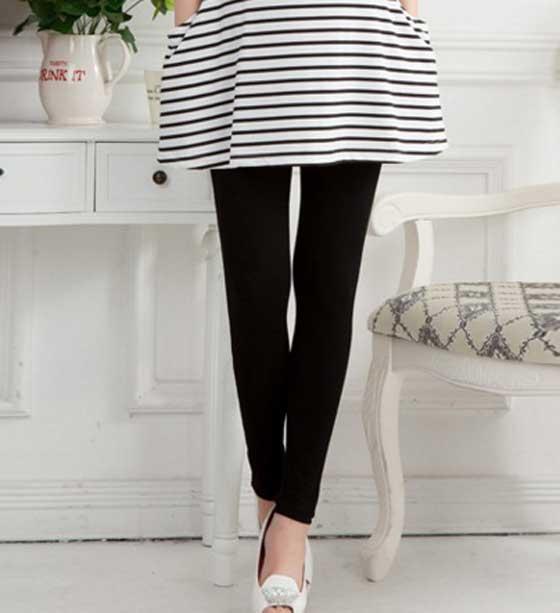 กางเกงเลกกิ้งคนท้องขายาวสีดำ