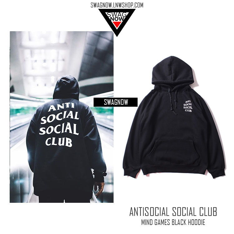Pre Order Antisocial Social Club Mind Games Black Hoodie