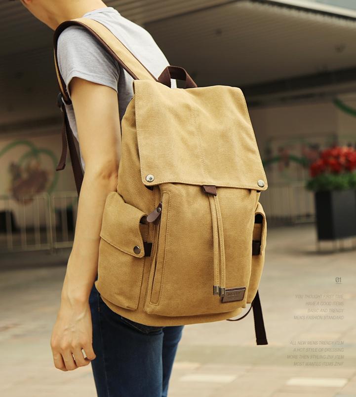 กระเป๋า MOYYI CANVAS คุณภาพดี ( สีกากี )