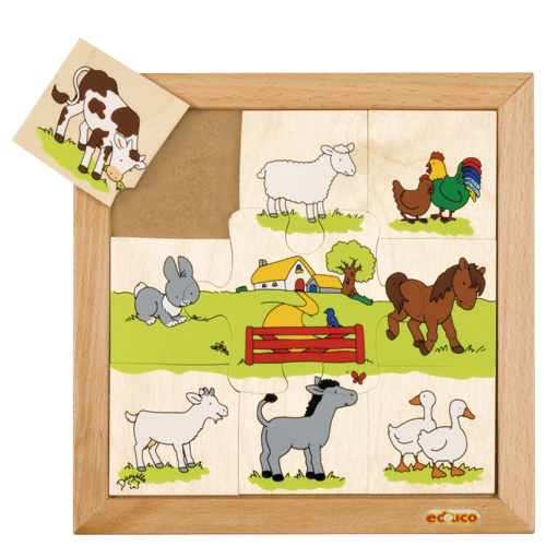 FARMYARD ANIMAL PUZZLES - ภาพต่อสัตว์ในฟาร์ม