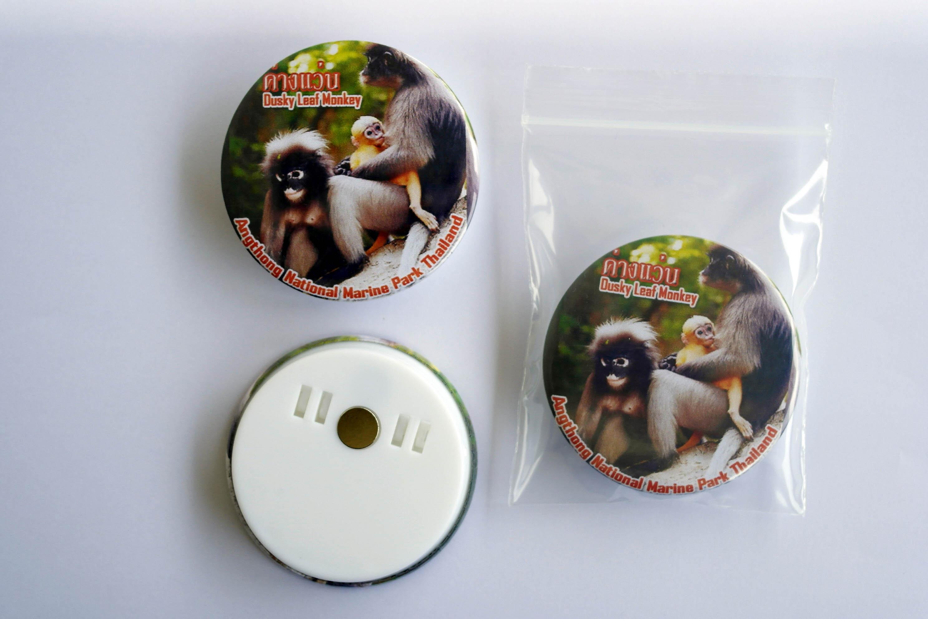 Angthong National Marine Park (Kang Waen : Dusky Leaf Monkey) 58 mm Fridge Magnet with paper clip