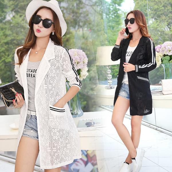 [พรีออเดอร์] เสื้้อเดรสคลุมลูกไม้ทั้งตัวแฟชั่นเกาหลีใหม่ สำหรับผู้หญิงไซส์ใหญ่ - [Preorder] New Korean Fashion Lace Dress for Large Size Woman
