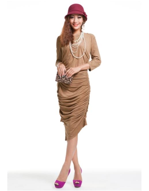 **พรีออเดอร์** ชุดเดรสผู้หญิงแฟชั่นยุโรปใหม่ แขนยาว แบบเก๋ เท่ห์ / **Preorder** New European Fashion Slim Long-Sleeved Dress