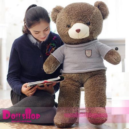 ตุ๊กตาหมีใส่เสื้อสีฟ้า 1.2 เมตร