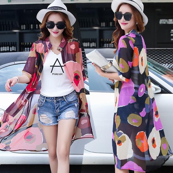 [พรีออเดอร์] เสื้้อเดรสคลุมแฟชั่นเกาหลีใหม่ สำหรับผู้หญิงไซส์ใหญ่ - [Preorder] New Korean Fashion Dress for Large Size Woman
