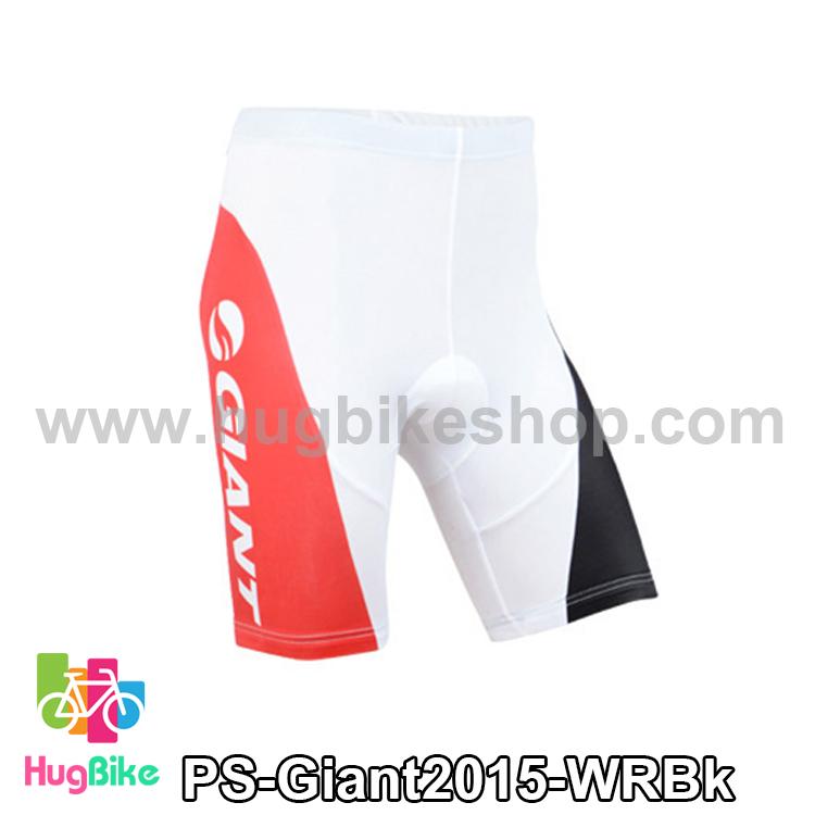 กางเกงจักรยานขาสั้นทีม Giant 15 ขาวแดงดำ