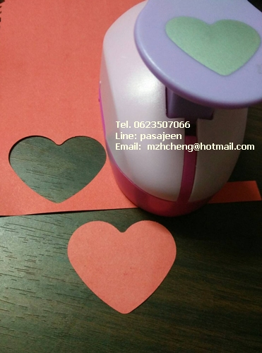 Punch เจาะกระดาษ 2นิ้ว รูปหัวใจ