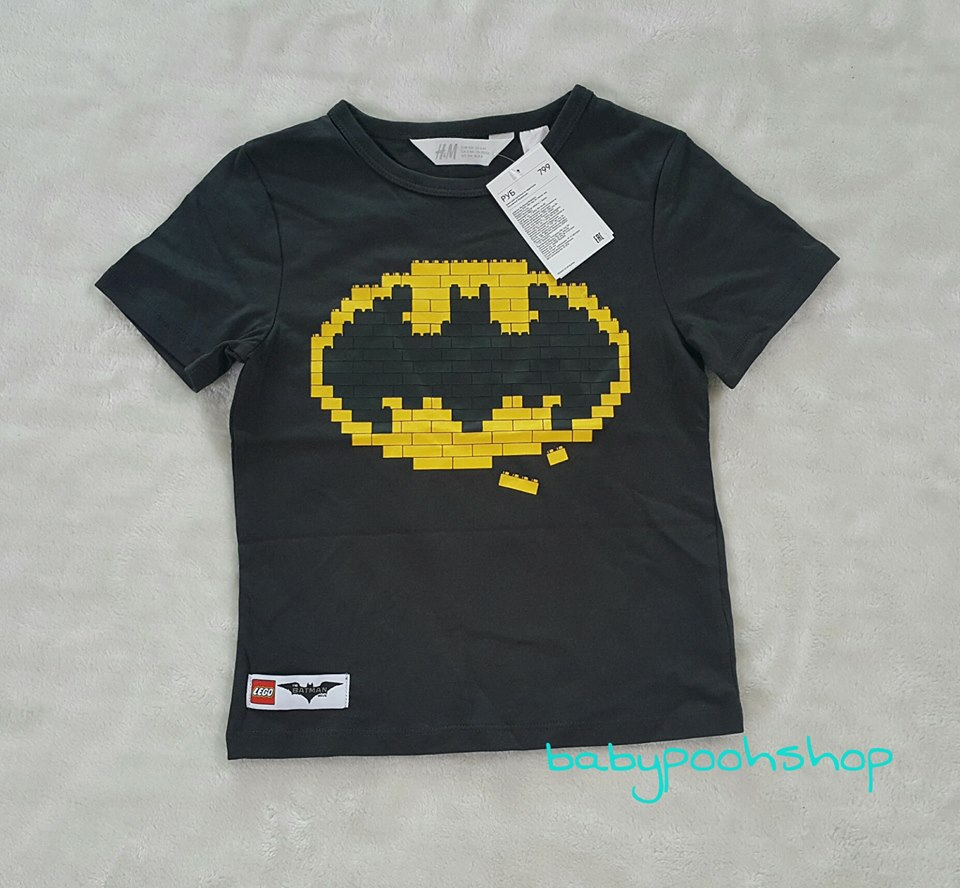 เสืื้อยืด batman H&M Size : 6-8y