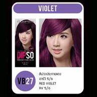ดิ๊พโซ่ ไวเบรนซี่ แฮร์ คัลเลอร์ VB27 สีม่วงประกายแดง อาร์วี 5/6 Red Violet RV 5/6