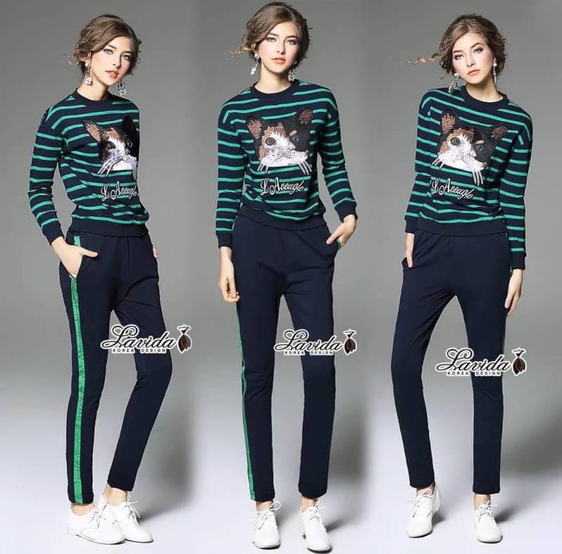 ชุดเซ็ทเสื้อ+กางเกง