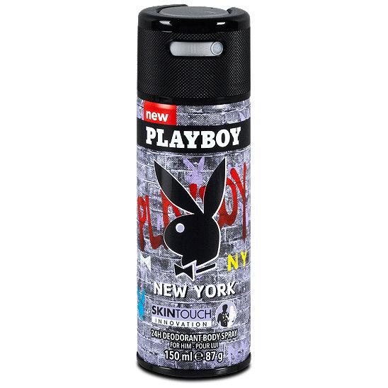 เพลย์บอย นิวยอร์ค สเปรย์ระงับกลิ่นกาย 150มล. (Playboy New York Deodorant Body Spray 150ml)