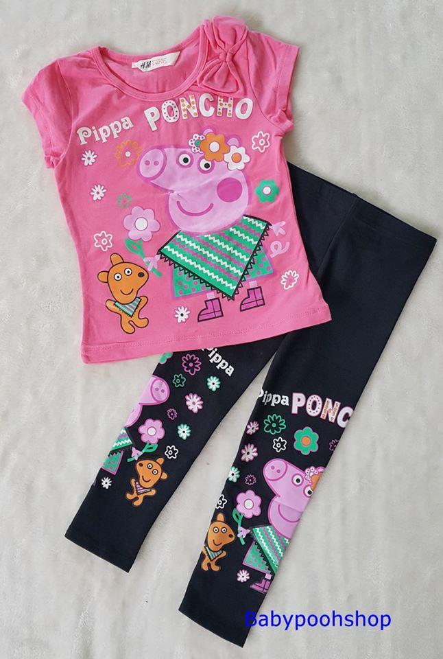 Set เสื้อยืด+เลกกิ้ง peppa pig size : 10-12y