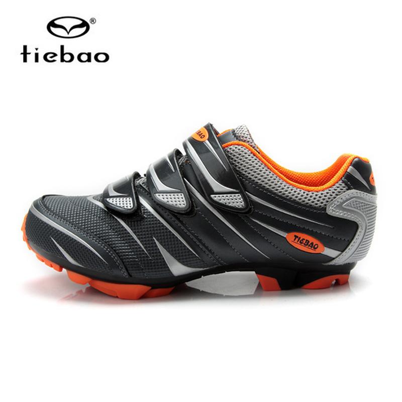 รองเท้าจักรยานเสือภูเขา TIEBAO รุ่น TB35-B816A สีดำเทาส้ม