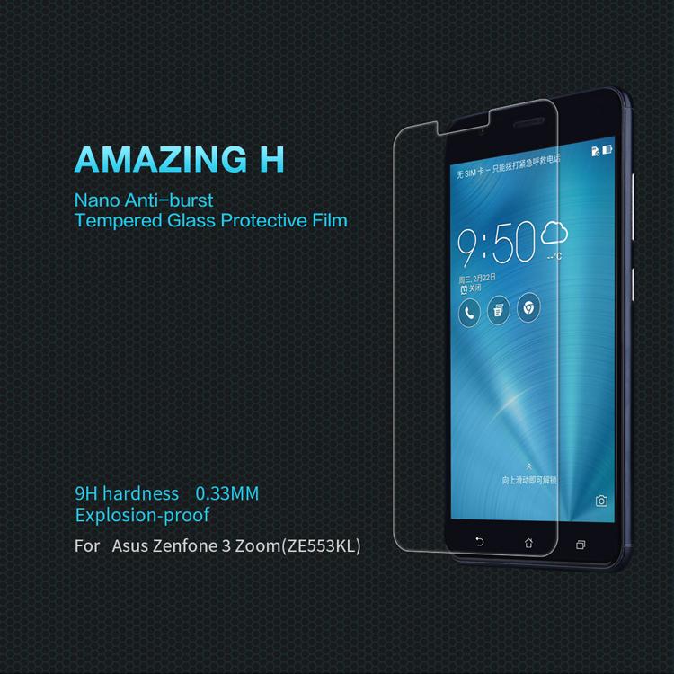 ฟิล์มกระจกนิรภัย Zenfone 3 Zoom/Zenfone Zoom S (ZE553KL)