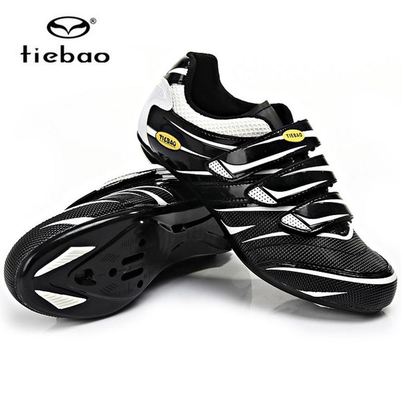 รองเท้าจักรยานเสือหมอบ TIEBAO รุ่น TB36-B816 สีขาวดำ