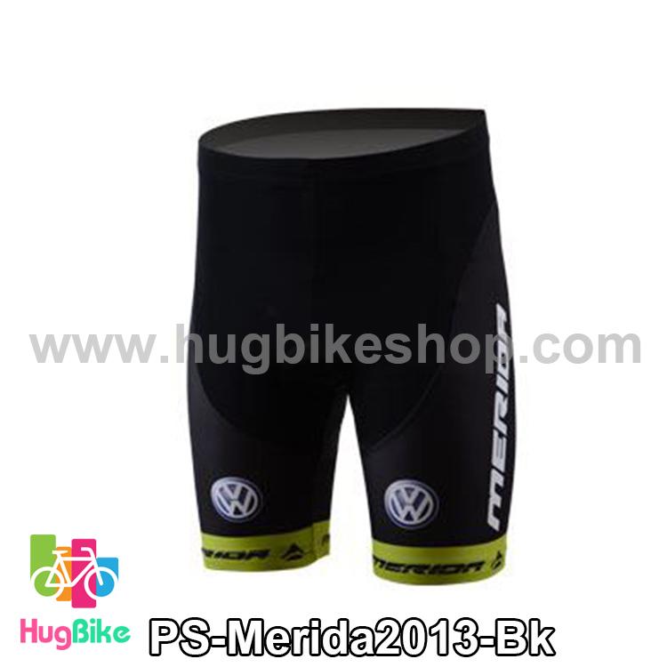 กางเกงจักรยานขาสั้นทีม Merida 13 สีดำเขียว สั่งจอง (Pre-order)