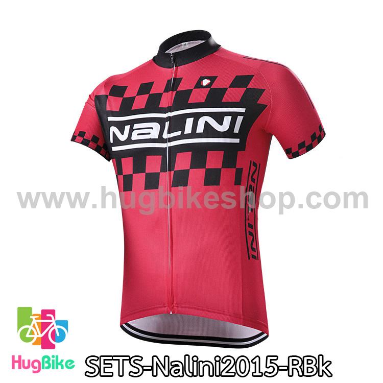 เสื้อจักรยานแขนสั้นทีม Nalini 2015 สีแดงดำ สั่งจอง (Pre-order)