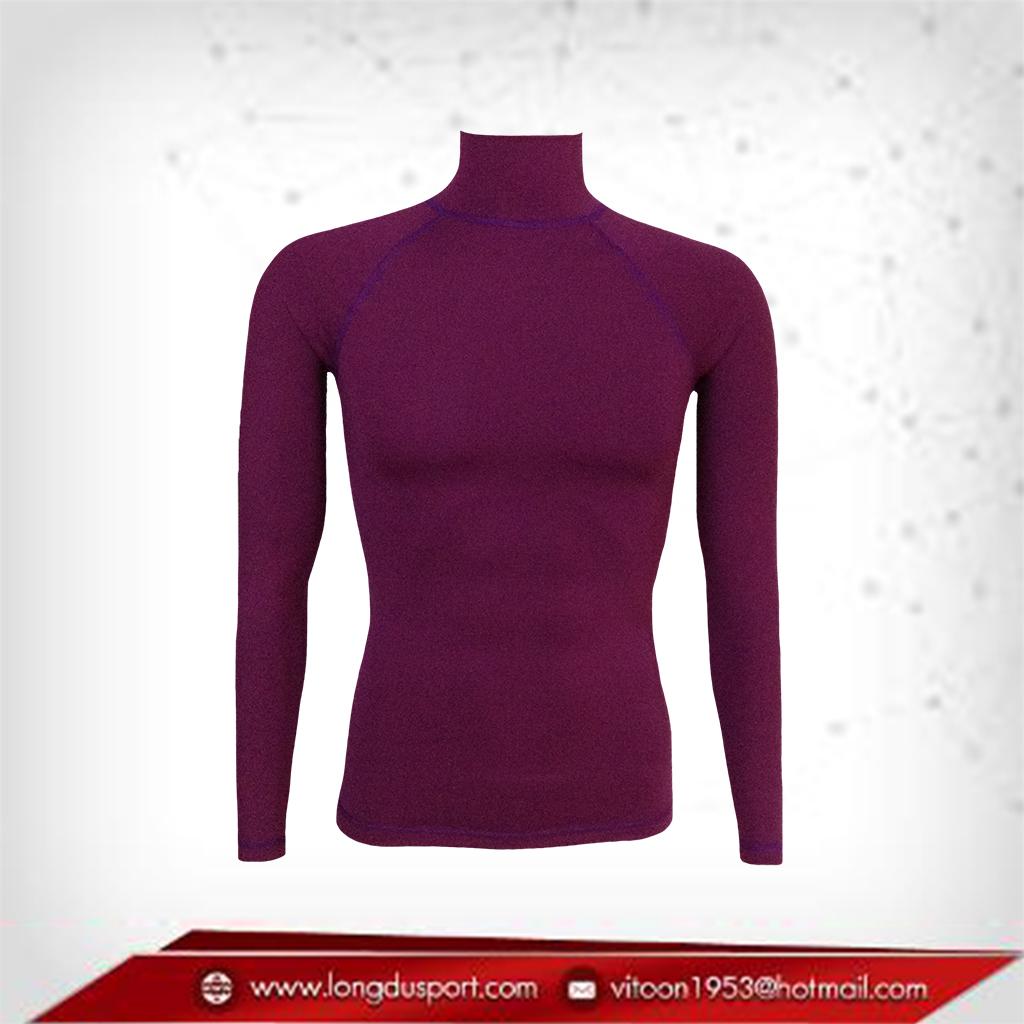 เสื้อรัดกล้ามเนื้อ แขนยาวคอตั้ง สี mediumvioletred