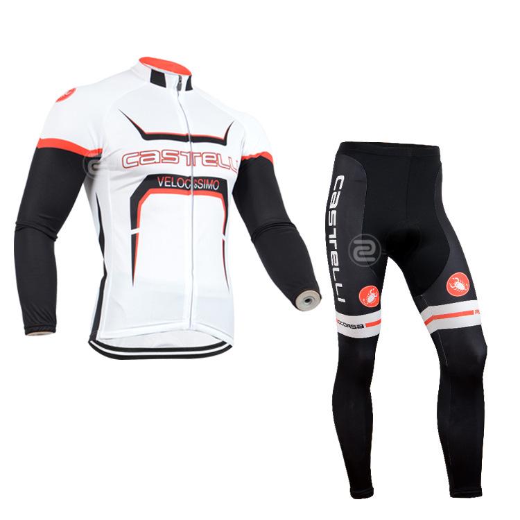ชุดจักรยานแขนยาวทีม Castelli 14 สีขาว สั่งจอง (Pre-order)