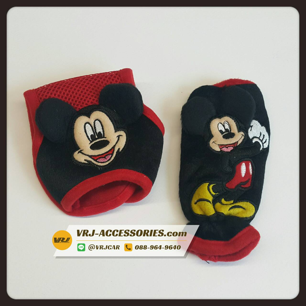 Mickey Mouse ชุดเซตหุ้มเกียร์ ออโต้ และ หุ้มเบรคมือ มิกกี้เม้าส์ ตีกอล์ฟ Knob cover and Hand brake cover