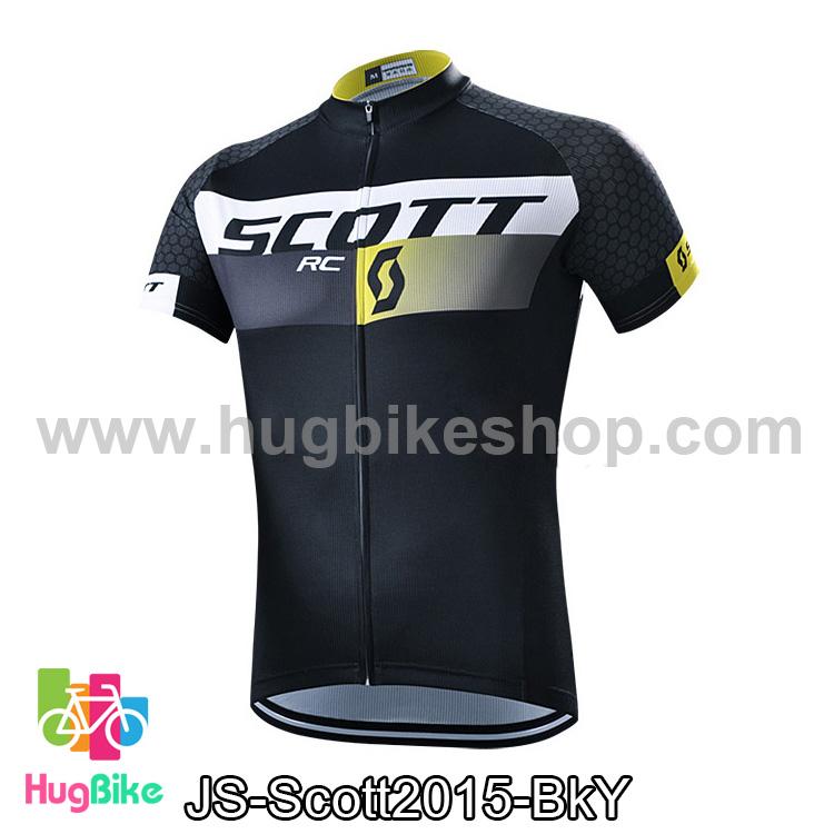 เสื้อจักรยานแขนสั้นทีม Scott 15 (02) สีดำเหลือง สั่งจอง (Pre-order)