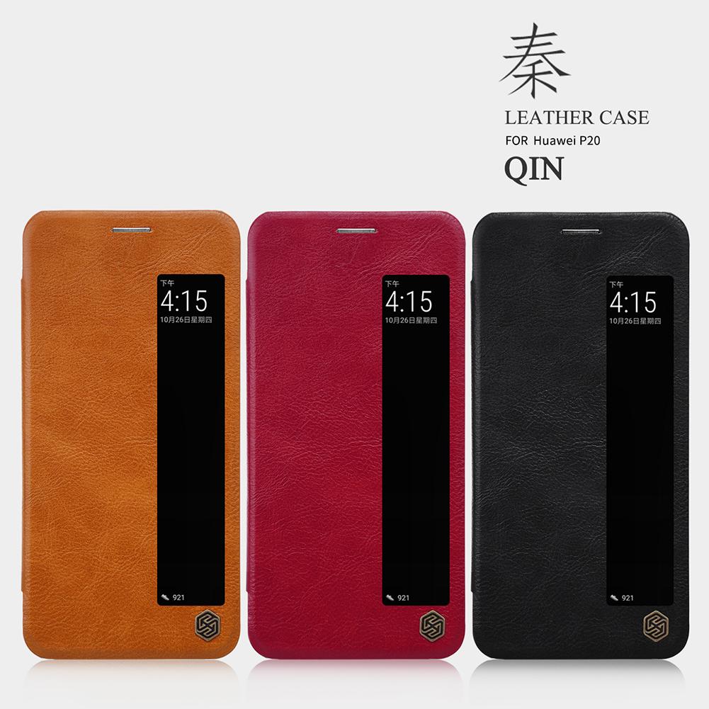เคสมือถือ Huawei P20 รุ่น Qin Leather Case