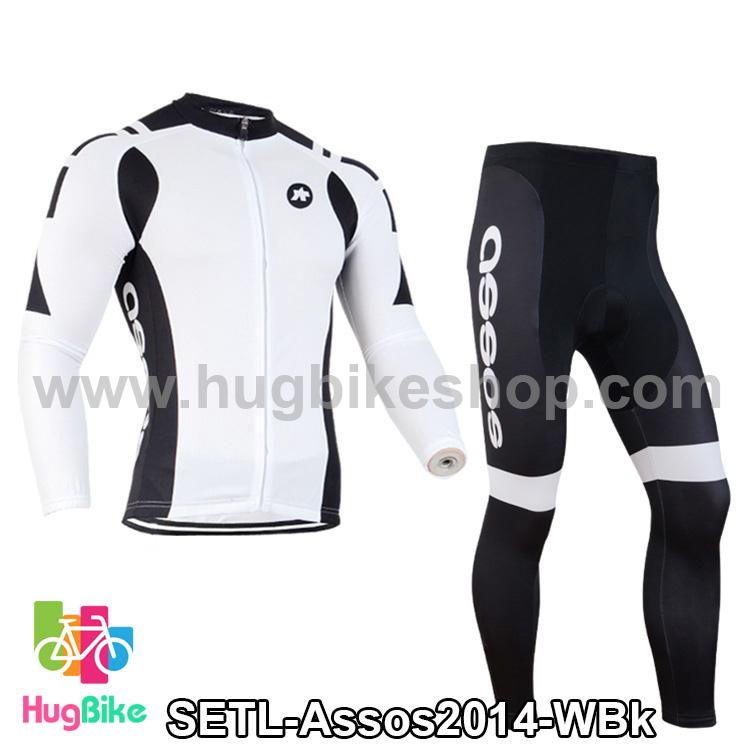 ชุดจักรยานแขนยาวทีม Assos 14 สีขาวดำ สั่งจอง (Pre-order)