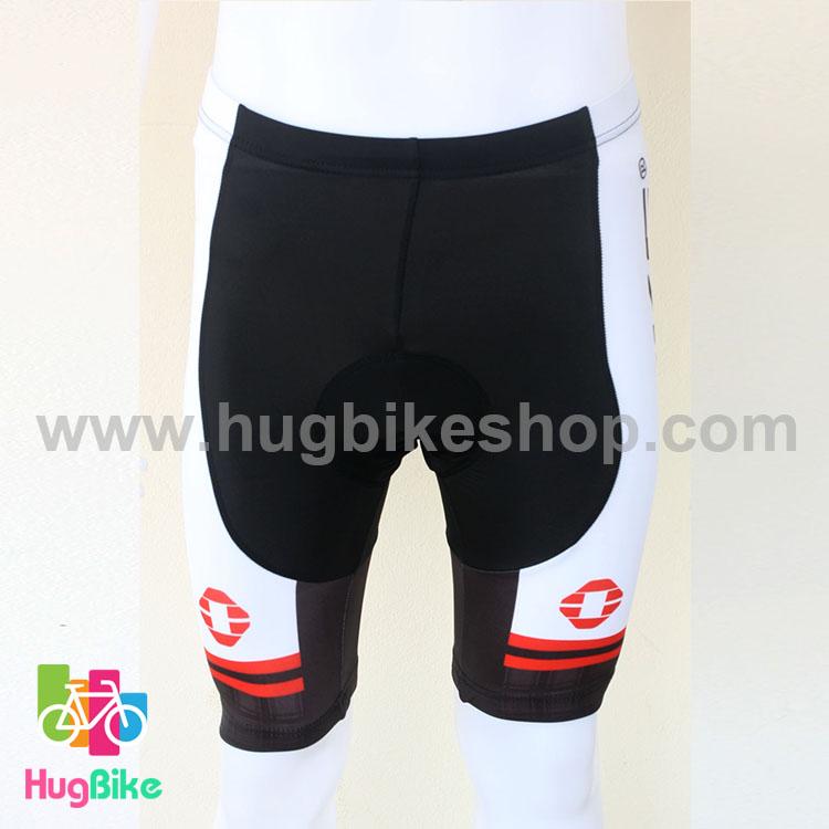 กางเกงจักรยานขาสั้นทีม INBIKE 16 (01) สีดำขาวแดง