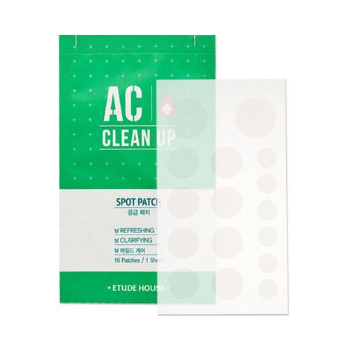 ++พร้อมส่ง++Etude House AC Clean Up Spot Patch 1 แผ่น 16 ชิ้น แผ่นแปะสิว ช่วยลดการอักเสบของสิว รอยแดง เห็นผลทันทีที่ใช้