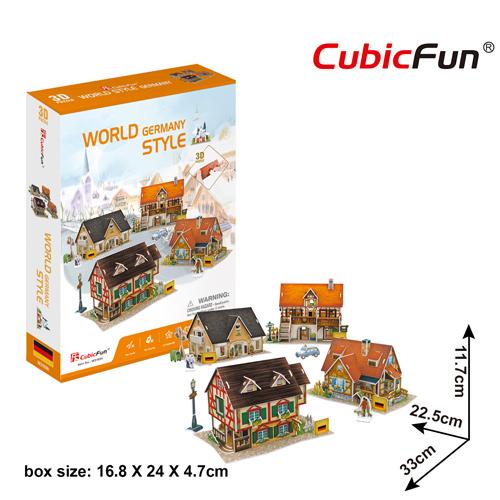 World Style Series 3D Germany Size: 32 x 22.5 x 11.7 cm จำนวน 181 ชิ้น Cubic Fun Thailand 3D Shop Puzzle